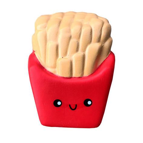 Мягкая игрушка антистресс Сквиши Squishy Картошка Фри, фото 2