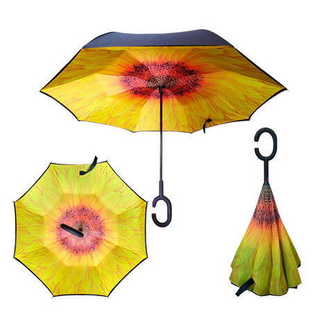 Зонт обратного сложения Up-brella Подсолнух №64, фото 2