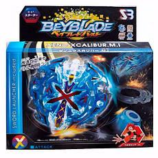 Волчок BEYBLADE S3 Экскалиус Блу B-67 (Beyblade Xeno Xcalibur MI B-67) с пусковым устройством., фото 2