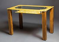 Стол стеклянный Улыбка 1100