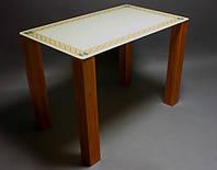 Стол стеклянный Плетеная рамка 1200