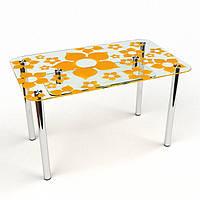 Стол стеклянный Цветение-S2 900