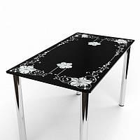 Стол стеклянный Цветок 1100
