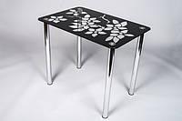 Стол стеклянный Цветы 1100