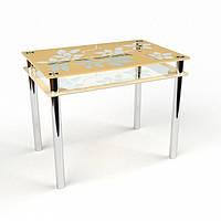 Стол стеклянный Цветы-рамка 1100