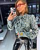 Блуза Doratti нежная шифон с бантом модный цветочный принт Bdor316