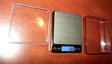 Весы настольные электронные 6295, максимальный вес 2 кг, шаг 0,1 г, в комплекте две крышки-чаши, питание 2*ААА, фото 3