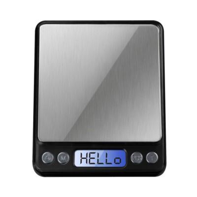 Весы настольные электронные 6295, максимальный вес 2 кг, шаг 0,1 г, в комплекте две крышки-чаши, питание 2*ААА