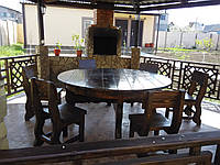 Стол круглый  деревянный 1700*750 для кафе, баров, ресторанов от производителя