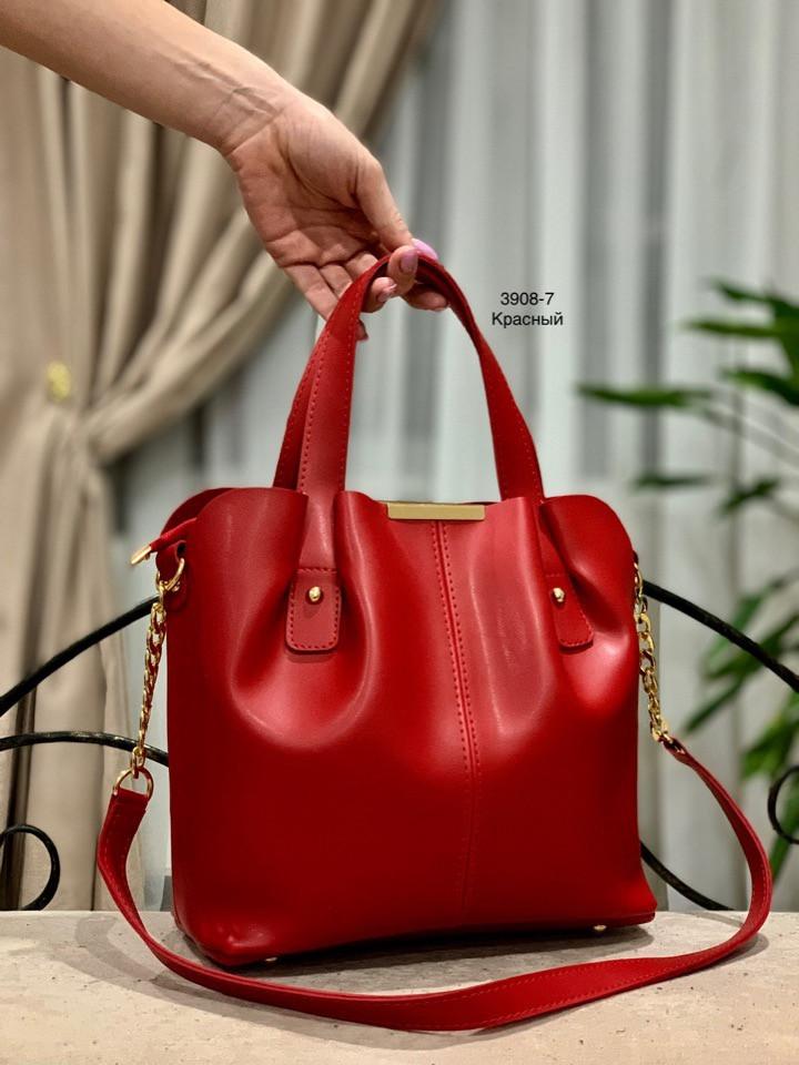 17538227f701 Небольшая удобная женская сумка. Красная - Качественные реплики на сумки  известных брендов