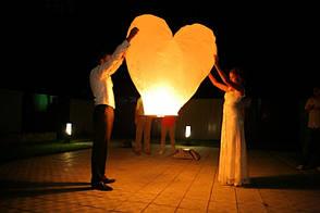 ✅ Небесный фонарик в форме сердца