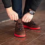 Мужские кроссовки South Aron brown, классические кожаные кроссовки, мужские кожаные кеды , фото 3