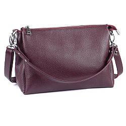 Женская кожаная сумочка кроссбоди 36 виноград 01360104