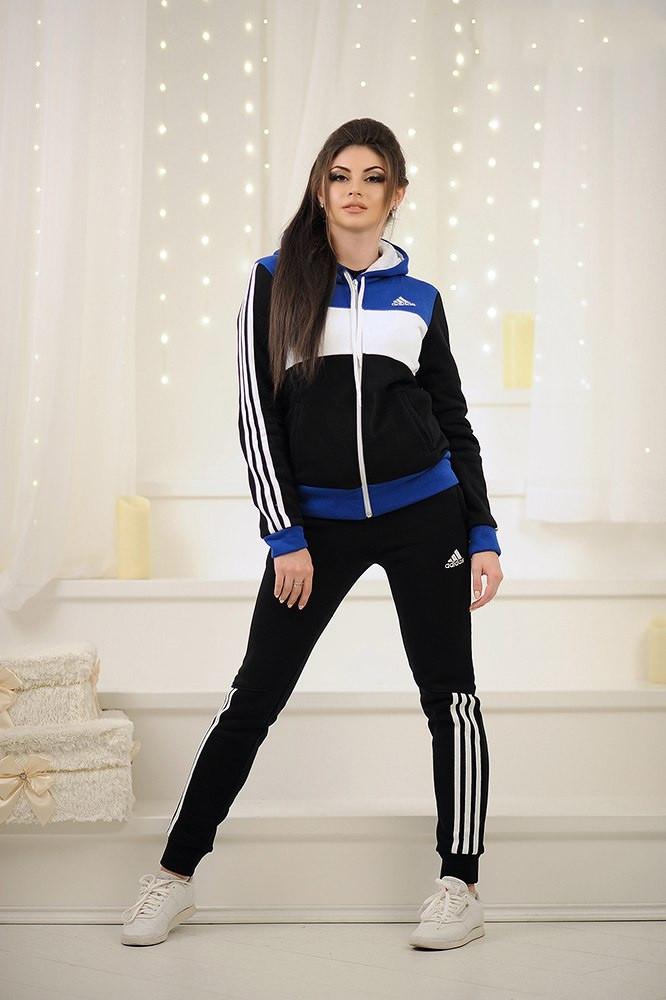 Теплый женский спортивный костюм adidas