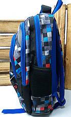 Школьный рюкзак среднего размера из плотного непромокаемого материала, на 3 отдела, фото 2