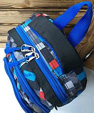 Школьный рюкзак среднего размера из плотного непромокаемого материала, на 3 отдела, фото 3