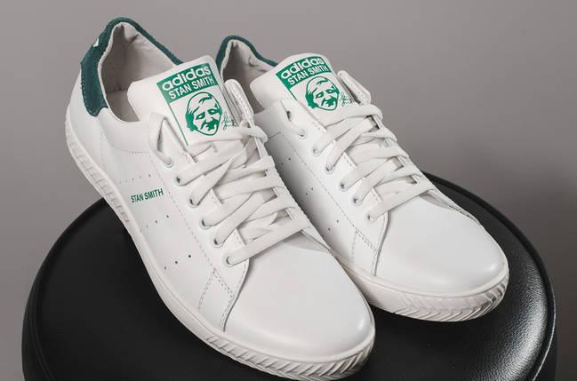 421f31fe Кеды Adidas Stan Smith мужские из натуральной кожи белые К71-12SA-M1, фото