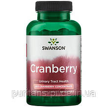 Здоровье мочевого пузыря и почек - клюква в капсулах, Swanson,Cranberry  180 капсул