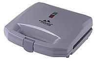 ✅ Бутербродница Monte 800Вт, индикатор, анти-пригар, серая 3512-MT