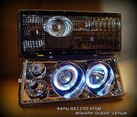 Передние фары+задние фонари на ВАЗ 2109 №10
