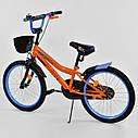 """Детский двухколесный велосипед оранжевый, корзинка, подножка, ручной тормоз Corso 20"""" детям 6-9 лет, фото 2"""