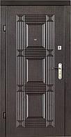 Двери входные QDoors. Квадро венге темный, фото 1