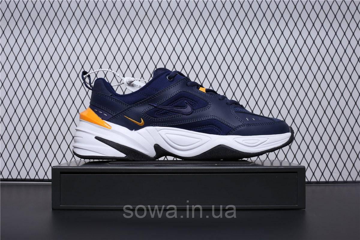 "✔️ Кроссовки Nike M2K Tekno ""Navy/Yellow"""
