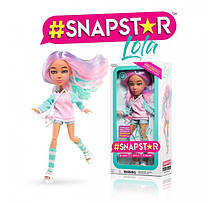 Кукла Snapstar Lola оригинал шарнирная Лола с подставкой Снапстар