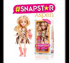 Кукла Snapstar Aspen оригинал Yulu шарнирная Аспен с подставкой Снапстар