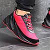 Кроссовки мужские новинка 7612 Adidas Красные с чёрным купить распродажа