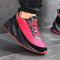 Кроссовки мужские новинка 7612 Adidas Красные с чёрным купить распродажа , фото 1