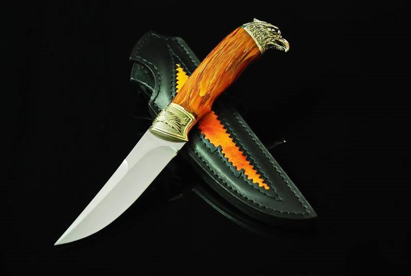 """Охотничий нож ручного изготовления """"Феникс"""", N690"""