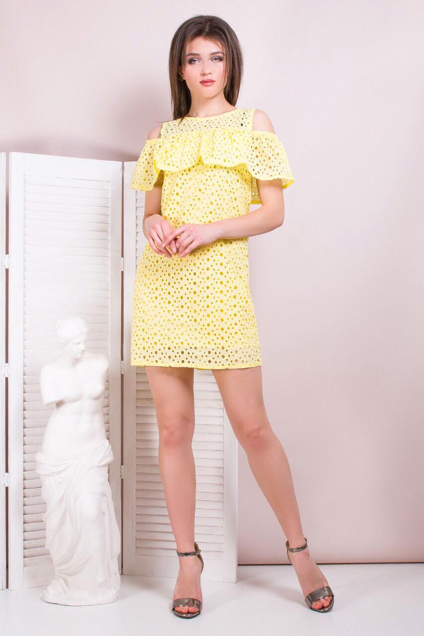 b739dbf2103 Женское платье-сарафан с рюшами (в расцветках) - Женская одежда оптом