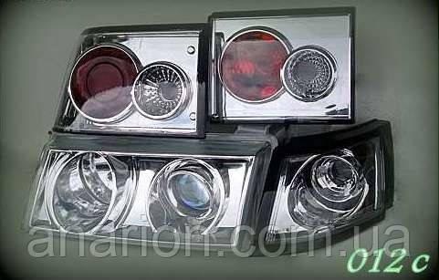Передние фары+задние фонари на ВАЗ 2110 №1.