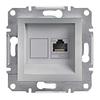 Розетка компьютерная RJ45 категория 6 UTP Алюминий Schneider Asfora plus (EPH4700161)
