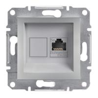 Розетка компьютерная RJ45 категория 6 UTP Алюминий Schneider Asfora plus (EPH4700161), фото 1