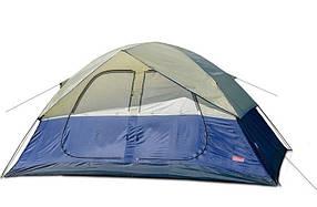 Туристическая палатка Coleman 1500 6-ти местная. 2-х слойная. 2-х комнатная. Навес.