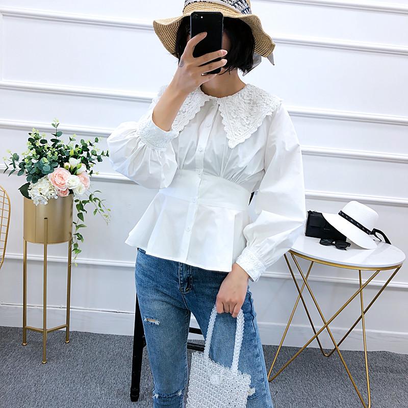 Стильная рубашка с модным воротником 44-46