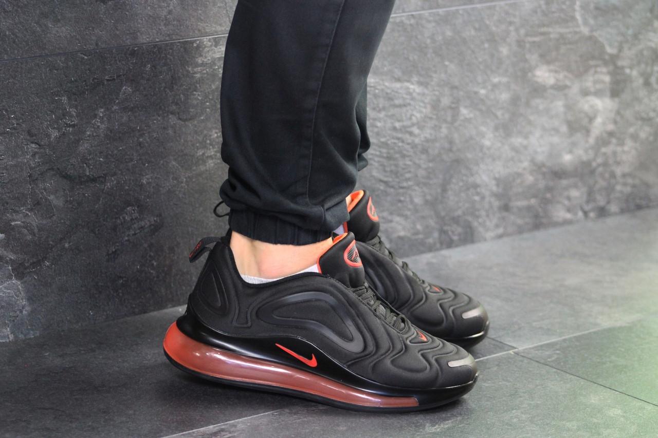 Кроссовки найк аир макс 720 черные оранжевые демисезонные спортивные (реплика) Nike Air Max 720 Black Orange