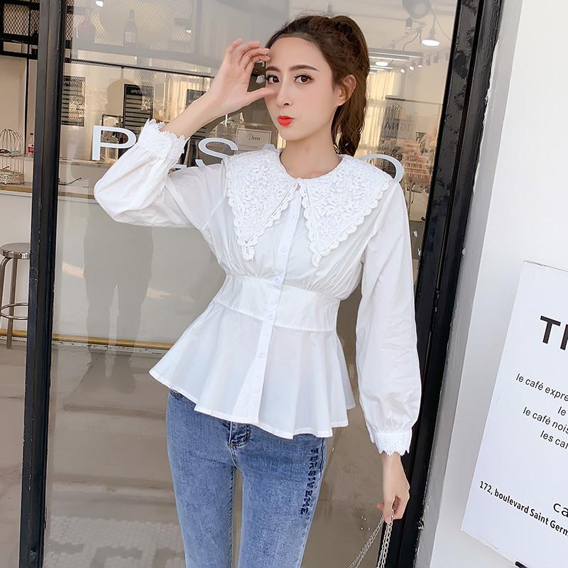 Стильна сорочка з модним коміром 44-46
