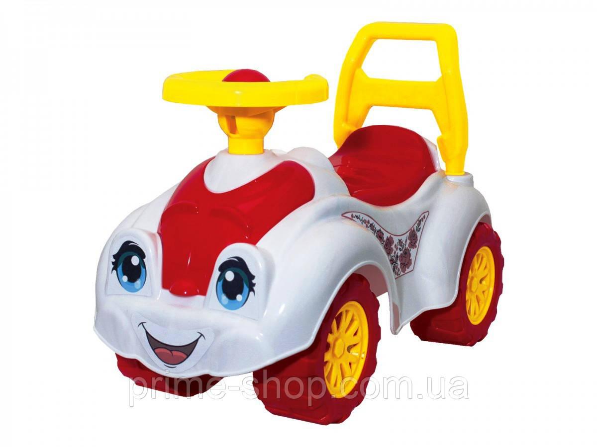 Толокар Машинка Автомобиль для прогулок бело-красная, ТМ Технок