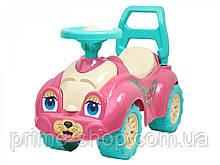 Толокар Машинка Автомобиль для прогулок розовый, ТМ Технок