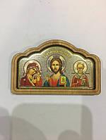 """Ікона в авто """"Ісус Христос, Діва Марія та Святий Миколай"""""""