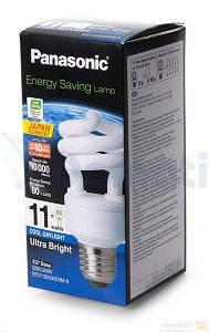 Лампа энергосберегающая PANASONIC 11W 6500K E27 (EFD11E65HD3MR)