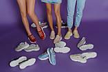 Женские летние кожаные кроссовки с перфорацией (голубые), фото 5