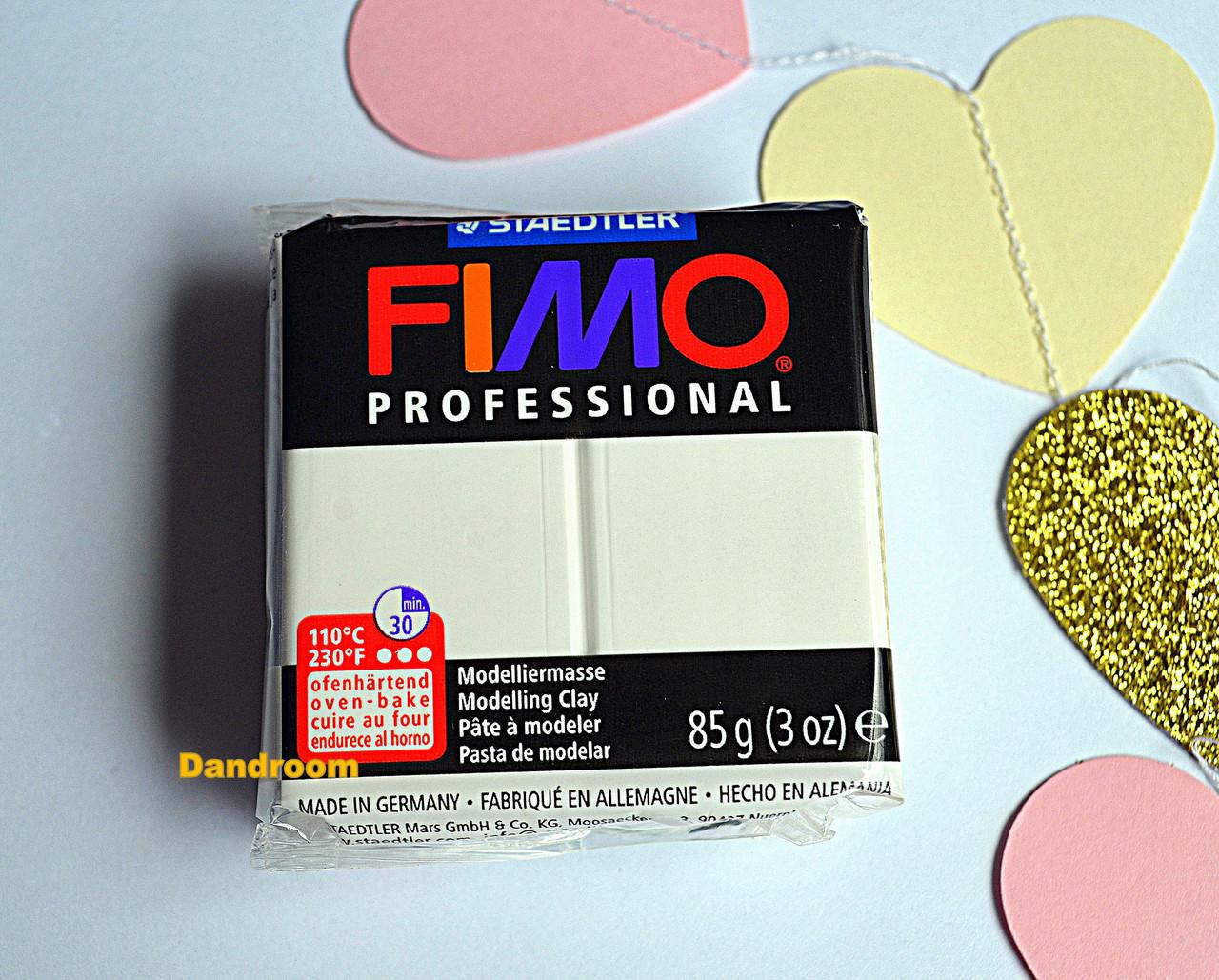 Пластика Professional, Белая, 85 г, Fimo