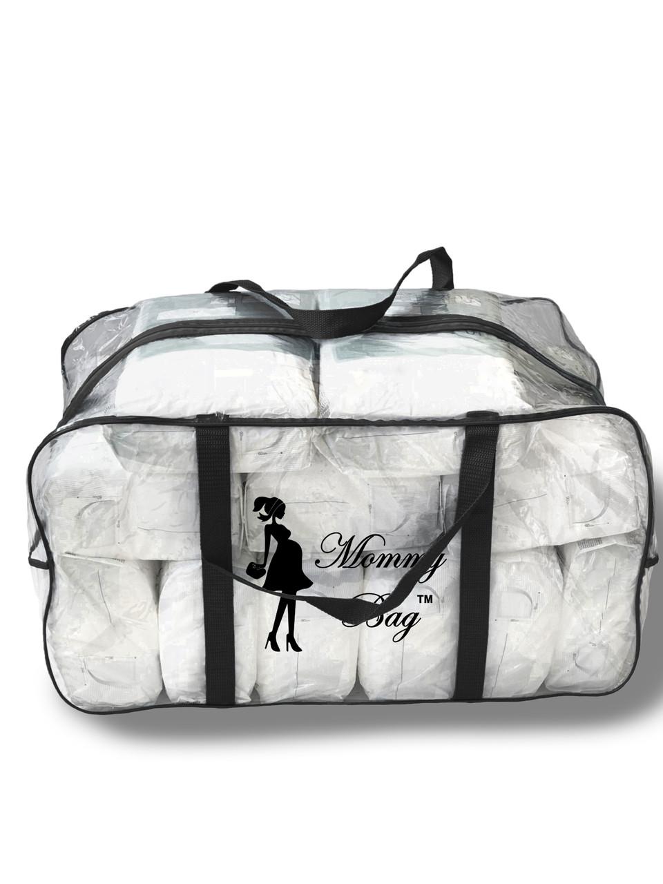 Сумка прозрачная в роддом Mommy Bag - XL - 65*35*30 см Черная