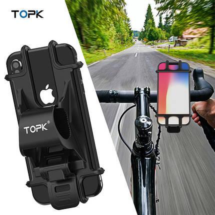 Универсальный вело держатель (холдер) Topk H03 для смартфона, фото 2