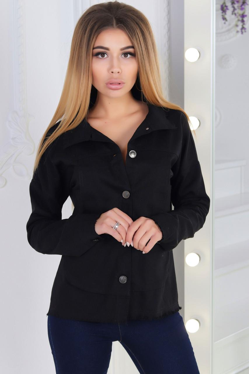 0c6921cd585 Стильная женская джинсовая рубашка куртка на пуговицах спереди и по всей  спине с разрезом