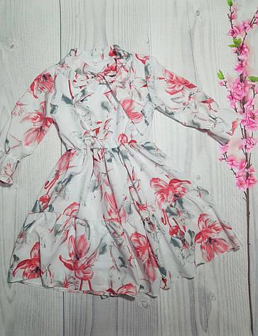 Весеннее платье для девочки в цветочный принт р. 134-152, фото 2